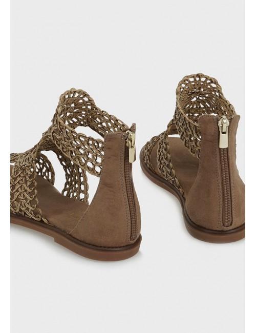 Γυναικείο παπούτσι flat EXE  M47001941P22   οικολογικό δέρμα ΠΟΥΡΟ ΜΑΚΡΑΜΕ